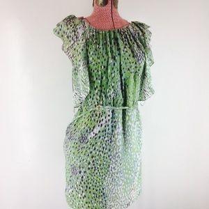 Anthropologie Leifsdottir Silk Ruffle Dress